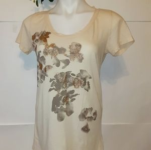 J Crew Abstract Floral Tee Shirt